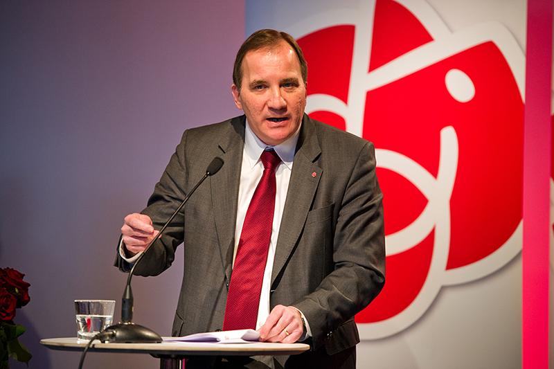 <![CDATA[Stefan Löfven, partiordförande för Sveriges socialdemokratiska arbetareparti. Fotograf: Anders Löwdin.]]>