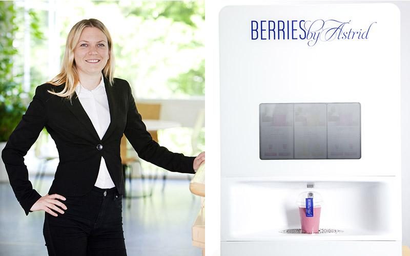 <![CDATA[Astrid Friborgs nya smoothieautomat kommer att finnas på platser där det rör sig mycket människor och på större kontor.]]>