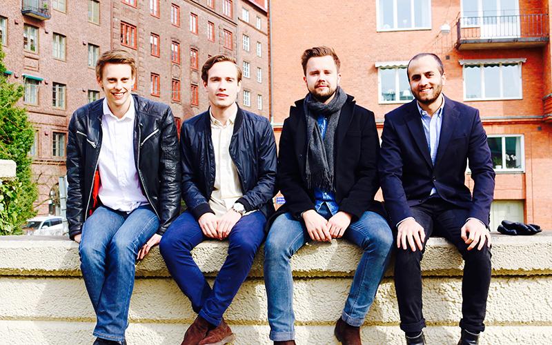 <![CDATA[Företaget Bonsai. Från vänster: David Karlsson, Alexander Kurtsson, Erik Hedegren och Jonas Sharma. Foto: Linus Olsson.]]>