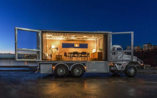 De hyr ut möteslokal – i en lastbil!