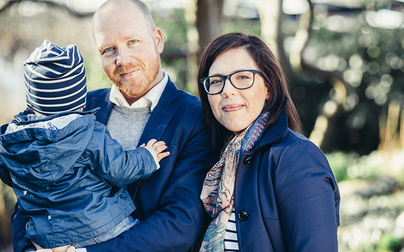 <![CDATA[Mattias och Evelina Åkerberg, grundare av Rulla vagn. Foto: Mikaela Watsfeldt.]]>
