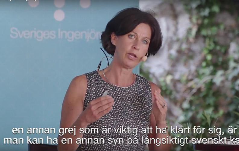 <![CDATA[Sophie Nachemson–Ekwall i Almedalen.]]>