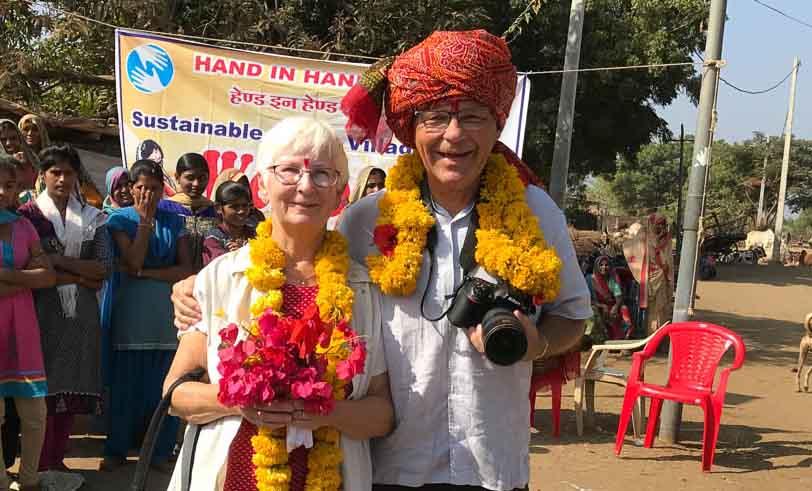<![CDATA[Margareta och Anders Andersson i Indien.]]>