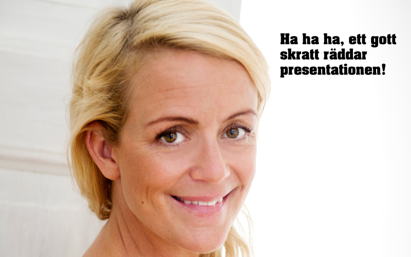 <![CDATA[Karin Adelsköld vet hur man får folk att skratta.]]>