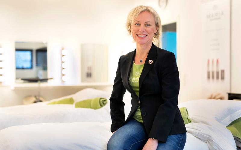 <![CDATA[Det tog sju år till första lönen. Nu omsätter Maria Åberg 70 miljoner om året. Foto: Thomas Johansson]]>