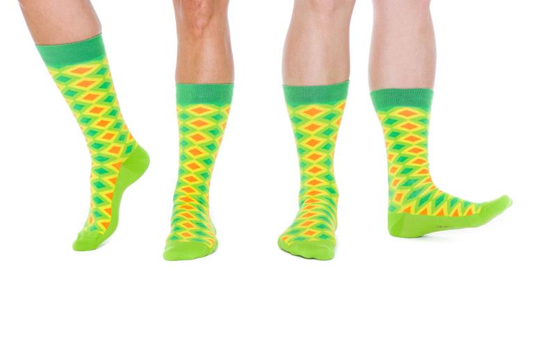 <![CDATA[Färgglada sockor som gör succé.]]>