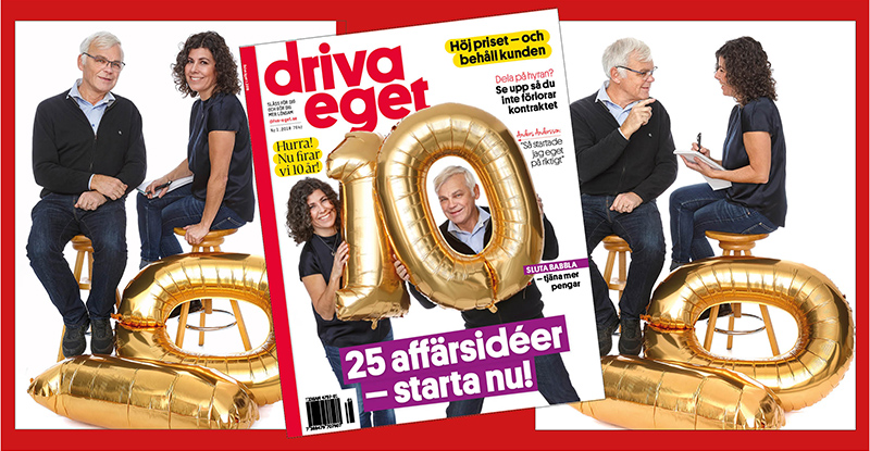 Hurra Driva Eget fyller 10 år. Det firar vi med ny sajt!
