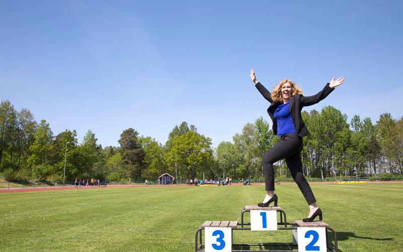 Tänk som elitidrottare och nå högre. Foto: Viktoria Davidsson