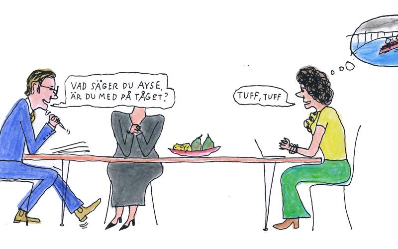 Lär dig hantera stress: Illustration Göran Uggla
