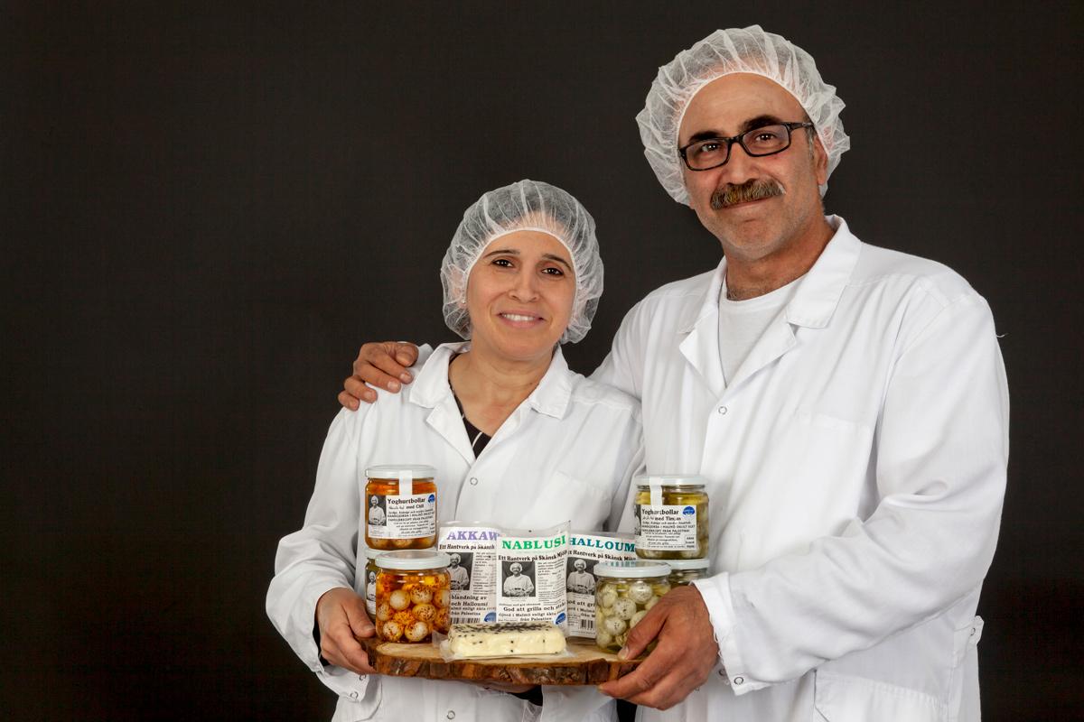 Nablus mejeri gör  ost med palestinsk inspiration.