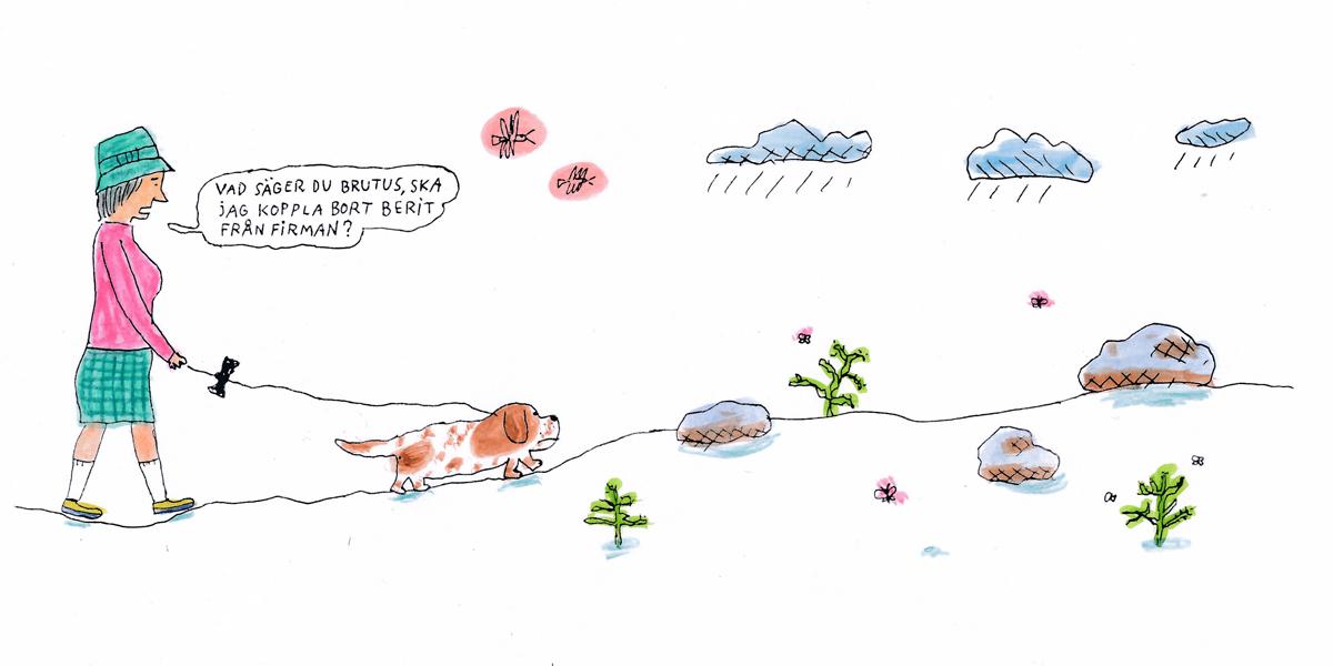 Psykologen svarar på läsarnas frågor. Illustration: Göran Uggla