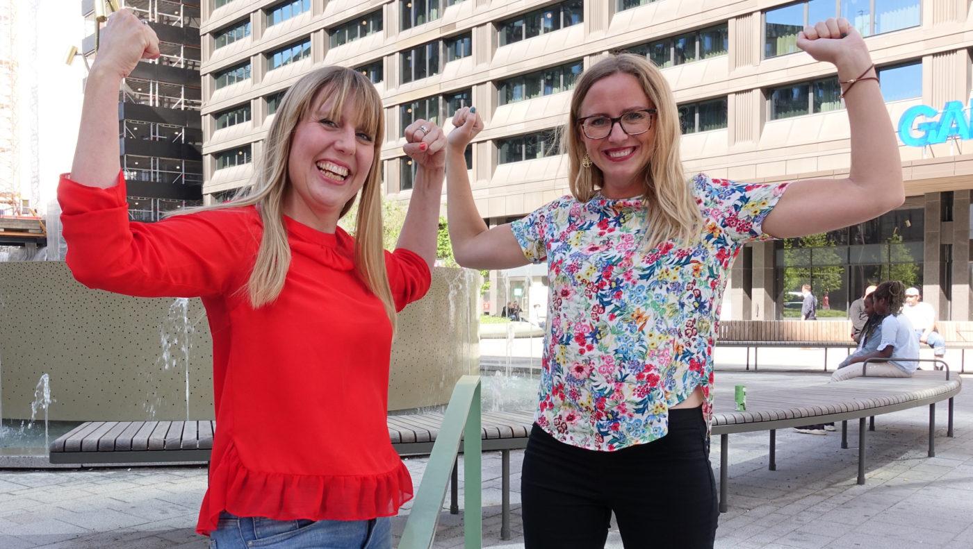 Gör en powerpose –och få ny energi, manar Anna Sundström och Malin Jilkén på Floworkers.