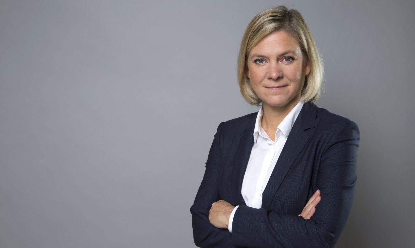 Magdalena Andersson, finansminister. FOTO KRISTIAN POHL
