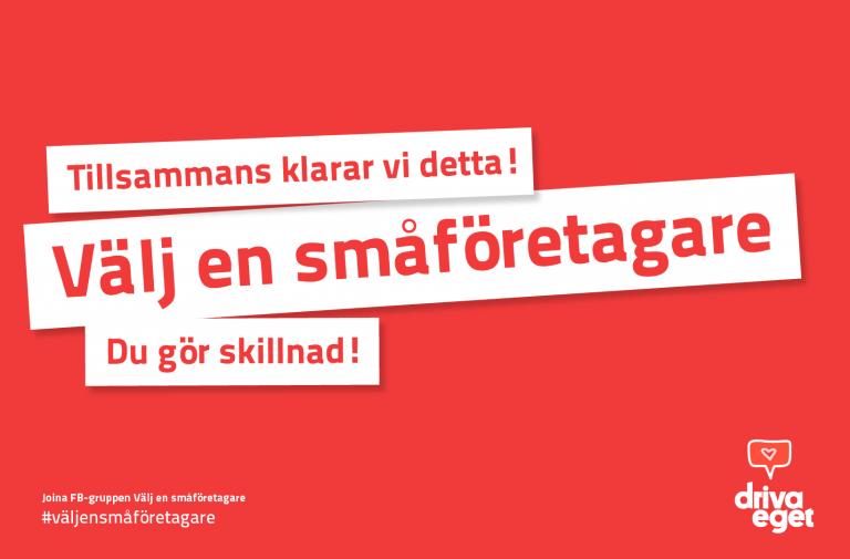 """Ny Facebook-grupp: """"Välj en småföretagare"""" (vi klarar krisen tillsammans!)"""