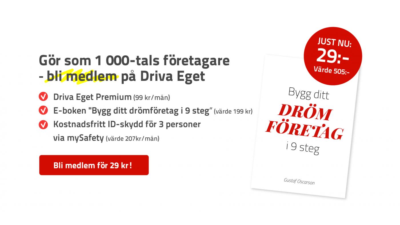 Premiummedlem på Driva Eget
