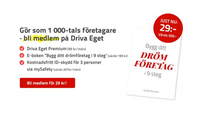 Bli Premiummedlem på Driva Eget med årets bästa erbjudande