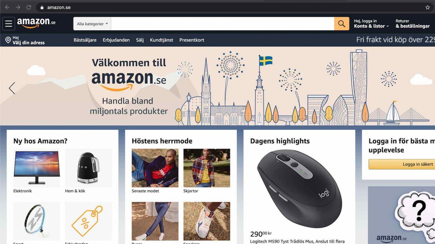 Amazon.se lanserar i sverige