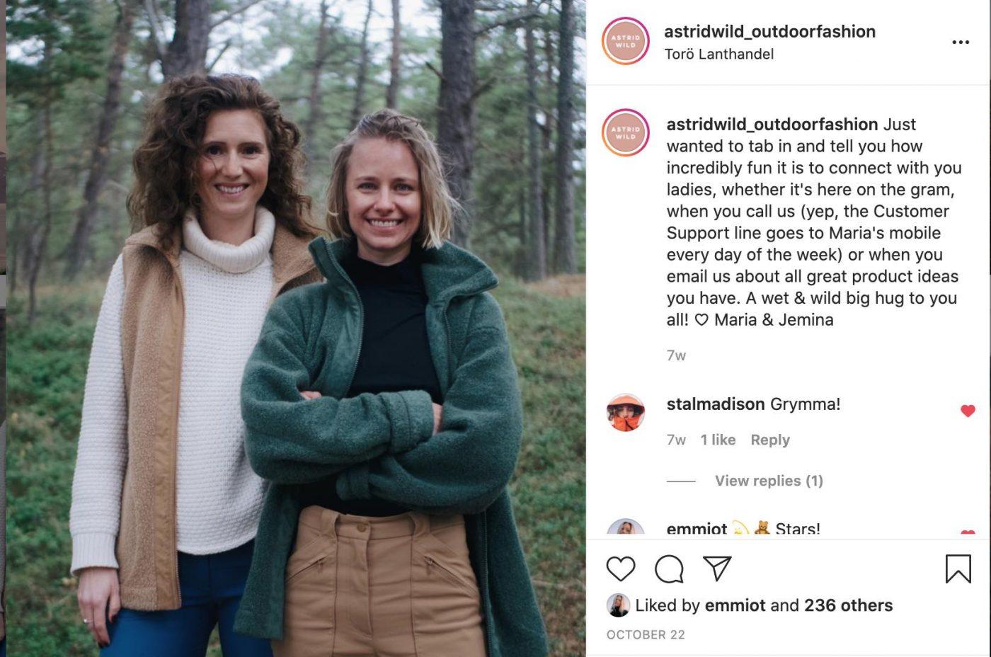 Astrid Wild Instagram